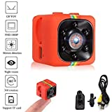 Crazepony-UK Mini Camera Espion SQ11 Camcorder 3.6mm Night Vision FOV140 1080P HD Sports Micro Camera DVR Video Recorder by (Plastic Shell)