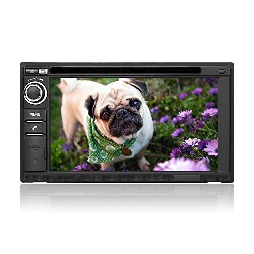 PUMPKIN 2 Din Autoradio DVD Player Moniceiver mit GPS Navi 6,2 Zoll/ 15,7cm Bildschirm Unterstützt Bluethooth Freisprecheinrichtung FM AM RDS Radio USB SD Android-Handy-Mirrorlink Lenkradfernbedienung Subwoofer Rückfahrkamera