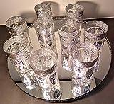 Mystery Souk - Juego de 6 Vasos de té Moroccan con Detalles Plateados