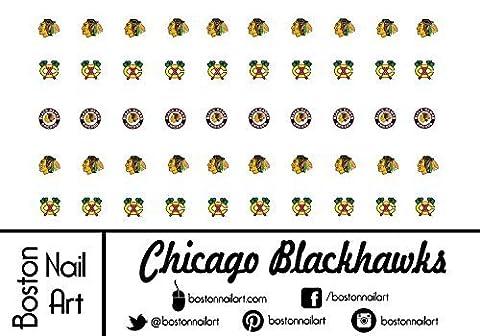 NHL - Chicago Blackhawks Waterslide Nail Decals - 50pc by Boston Nail Art