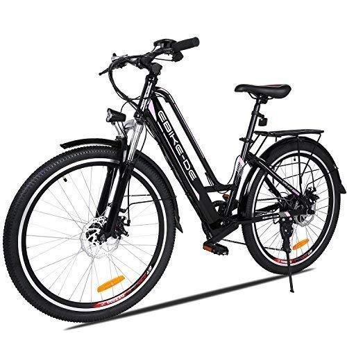 Beautytalk- 26 Zoll Elektrofahrrad E-Bike E-Mountainbike 35km/h Mountainbike Elektro Fahrrad mit Kapazität Lithium-Akku,LED-Anzeige,250W Max. (4) (Schwarz)