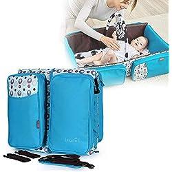 Bulary Cuna Plegable Multifuncional Bolsa de Momia de Gran Capacidad Bolsa de Mensajero para Exterior Cómodo y Suave Nido para bebés Sleeping Pod Portátil Cuna de Viaje