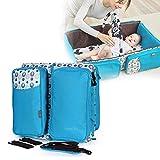 Chengstore Multifunktionale Wickeltasche, faltbares Babybett, tragbarer Stubenwagen mit Moskitonetz, große Kapazität, Mumien-Tasche, einfach zusammenklappbar für Reisen