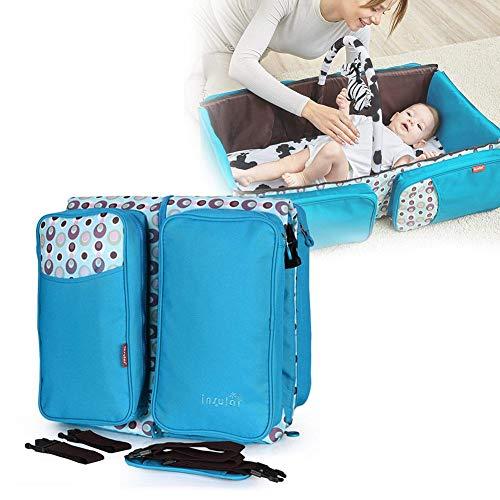 Bulary Multifunktionale Klapp Krippe Große Kapazität Mummy Bag Outdoor Umhängetasche Komfortable Weiche Baby Nest Schlaf Pod Tragbare Reise Krippe (Reise-klapp-krippe)