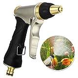 Migimi Garten Handbrause, Hochdruck Gartenbrause Garten Spritzpistolen für Autowaschanlagen, Garten Bewässerung - Verstellbarer Wasserdurchfluss - 100% Metal