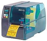 Cab Squix tubi termorestringenti e etichetta stampante a trasferimento termico con software Cab A4+