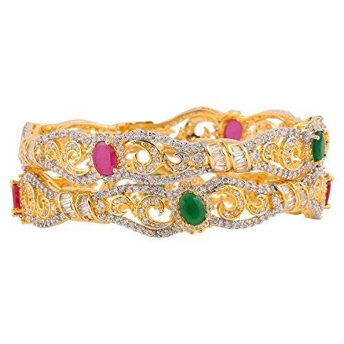 nstige  Vergoldet     Zirkonia  (Indische Kostüme Armreifen)