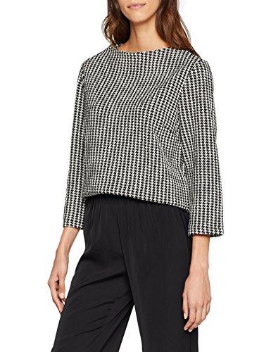 TOM TAILOR Damen Hanentrittdesign Sweatshirt, Schwarz (Black 2478), X-Small (Herstellergröße: XS) -