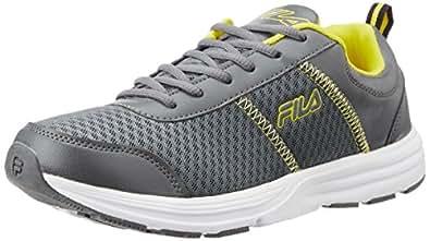 Fila Men's Ormanno Grey Yellow Running Shoes -6 UK/India (40 EU)