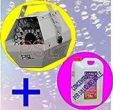 Macchina per Bolle -Sparabolle -con Flacone di concentrato per 5 litri di liquido per produzione bolle