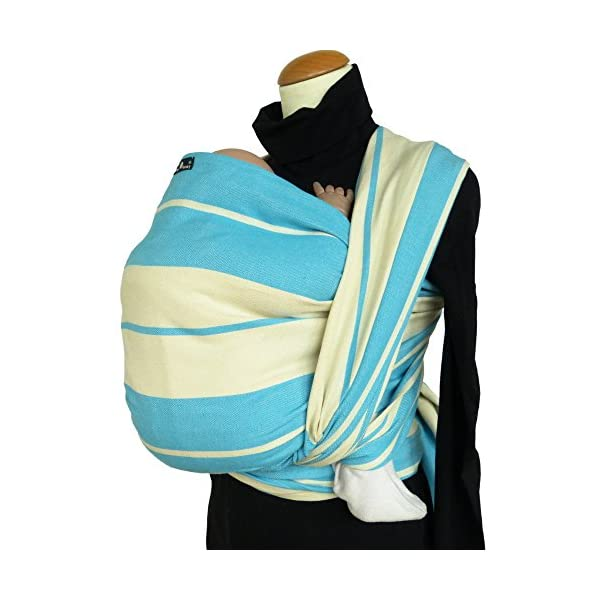 Didymos Woven Baby Wrap, Standard Turquoise, Size 5, 420 cm, Turquoise/White Didymos Various carrying positions, in front, sideways an on the back Special, diagonally stretchable cloth to give optimal support Holds your baby in the anatomically correct posture 2