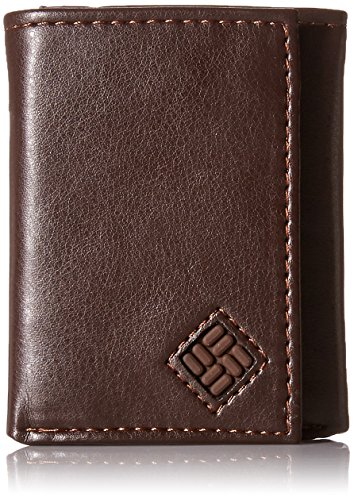 Columbia Men's Trifold Wallet, RFID, Brown (Columbia Tri-fold)