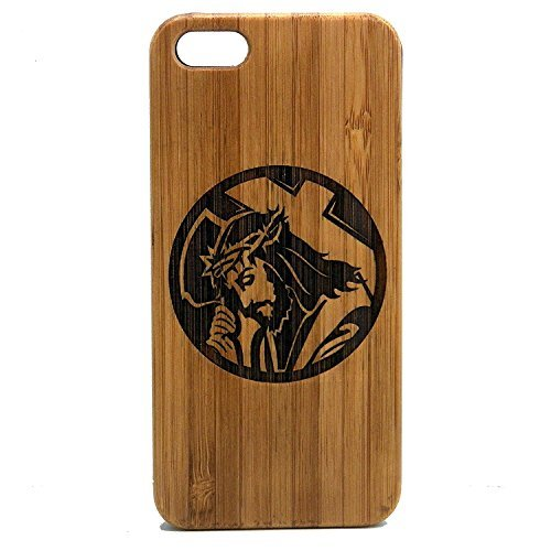 Jesus Christus iPhone 7Plus Case/Cover by imakethecase | umweltfreundlichem Bambus Holz Handy Cover Haut | Christian Lord Bearing Kreuz Dornenkrone. (Kreuz Mit Dornenkrone)