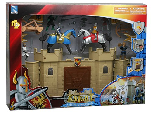 New Ray - 76735 - Figurine - Coffret Château - Fort 2 Chevaliers+Access.