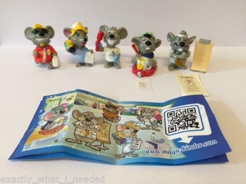 Set completo di statuine a sorpresa per bambini, motivo: medici di topolini, edizione limitata, versione cinese, collezione 2014, 5 personaggi