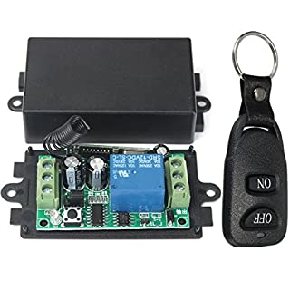 ILS. - DC 12V 10A Relay 1CH Channel Wireless RF Remote Control Switch Transmitter With Receiver