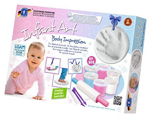 feuchtmann-spielwaren-6280822-infant-art-body-impression-baby-modellier-set-12-teilig