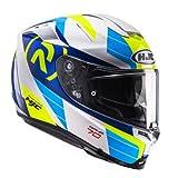 HJC Motorradhelm RPHA 70 LIF MC2, Weiß/Blau/Gelb, Größe M
