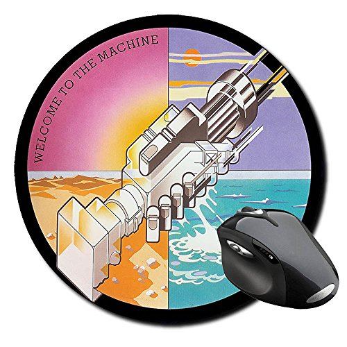 Pink Floyd Welcome To The Machine Mauspad Round Mousepad PC (Pink Floyd-tags)