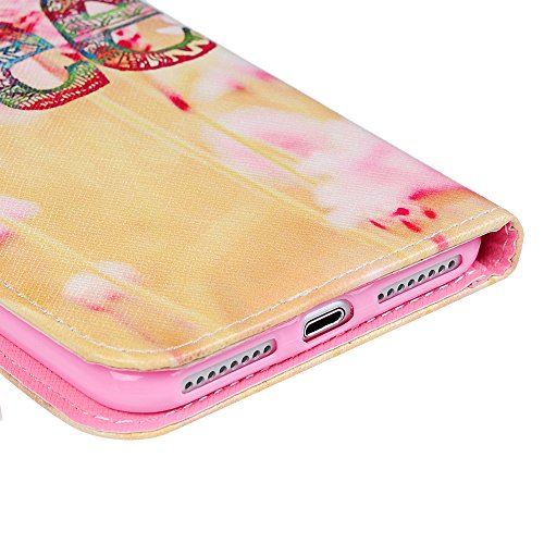 "YOKIRIN iPhone 7 Plus (5.5"") Hülle Case Multifunktion Kunsterleder Gemalt Handyhülle Schutzhülle Bookcase PU Ledercover Portemonnaie Innere TPU Flipcase Handycover Handytasche Lederhülle mit Magnetver Nelke"