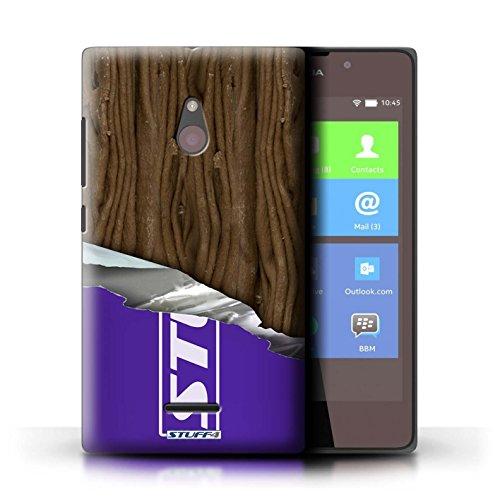 Kobalt® Imprimé Etui / Coque pour Nokia XL / Flake/Flocon conception / Série Chocolat Flake/Flocon Enveloppé