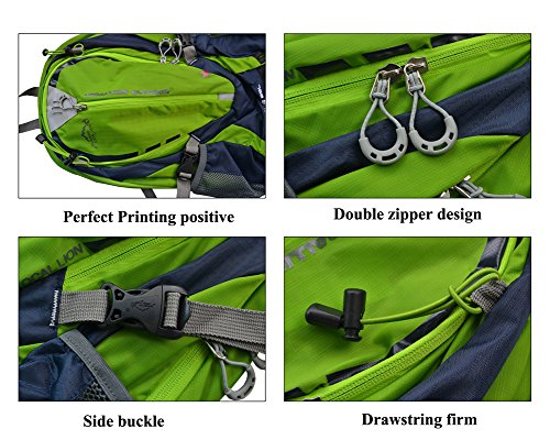 West Biken, Radfahren, Wandern, 25 l, Trekking Rucksack Daypack, wasserabweisend, erhältlich in 8 Farben grün - grün