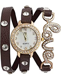 Divine Special Watch With Beautiful Dial With Diamond With Attractive Love Dori Looks Like Bracelet Casual Wear...
