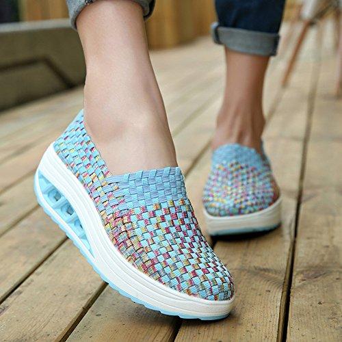 Kaister Damenmode Freizeit Keil Sportschuhe Laufen Freizeitschuhe Shake Schuhe