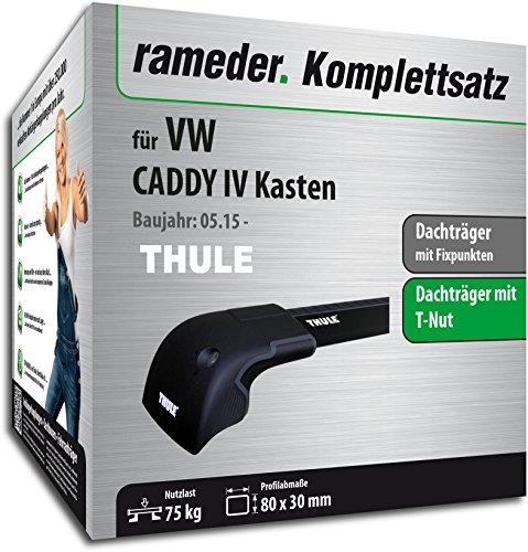 Rameder Komplettsatz, Dachträger WingBar Edge für VW CADDY IV Kasten (119872-14303-1)
