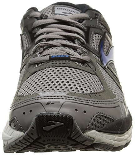 Brooks Addiction 12, Chaussures de Running Compétition Homme Grau (Mako/Anthracite/BrooksBlue)