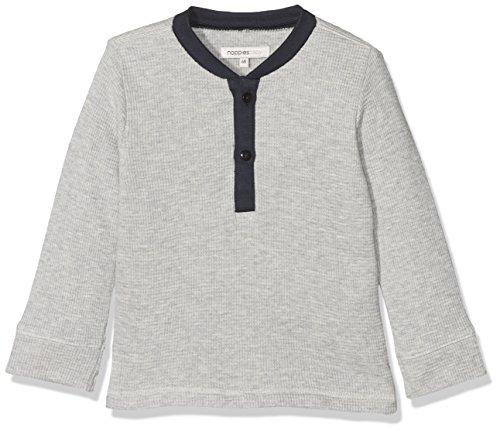 Noppies Baby-Jungen Langarmshirt B Tee Ls Grantsville Grau (Light Grey Melange C245), Frühchen (Herstellergröße: 44)