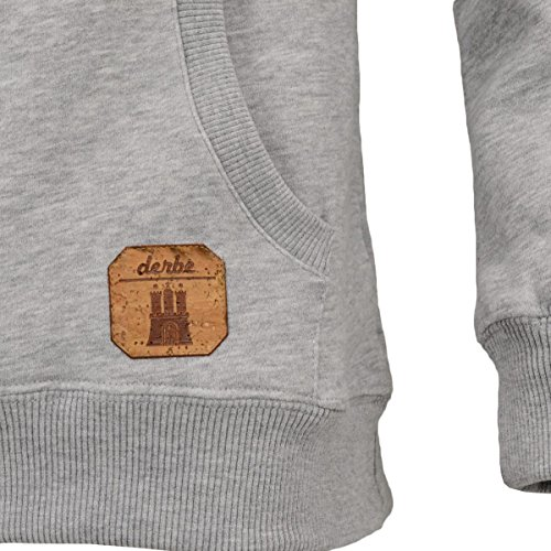 derbe Roadmovie Löppt Hoody Herren Grey Melange
