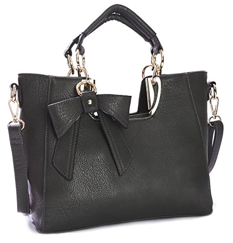 Big Handbag Shop - Borsa donna Grigio (grigio)