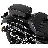 Selle Pouf Passager pour Harley Davidson Sportster 883 Iron (XL 883 N) à Ventouses noir