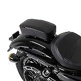 Sozius Sitz-Pad für Harley Davidson Sportster Forty-Eight 48 (XL 1200 X) mit Saugnäpfen schwarz