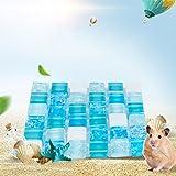 Pet Kühlmatte, Sommer Bequem Mosaik Muster Wiederverwendbar Pet Cool Gel-Bett Pad für Kleine Größe Hund Katze, Nicht Mehr über Heizung, 10x 10/10x 15/30x 15cm für Wählen, Blau, 20 * 15cm Blue