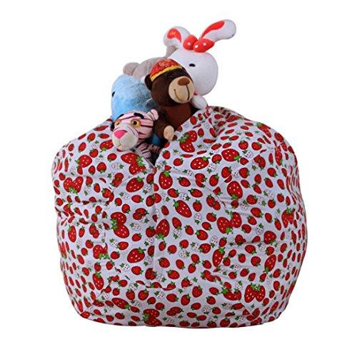 """Sitzsack Kinder, HUIHUI Stofftier Plüsch Spielzeug Speicher Sitzsack Gamer Kissen Lounge Kissen Sitzsack Tasche Aufbewahrung Beutel Sessel Sitzkissen für kinder,1.4m/55.1\"""" (A)"""