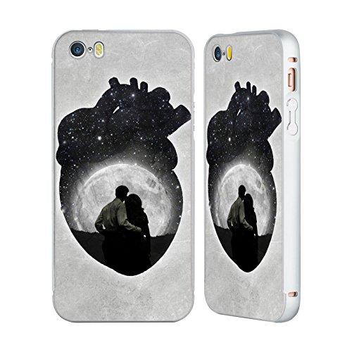Ufficiale Paula Belle Flores Una Notte A Parigi Luna Argento Cover Contorno con Bumper in Alluminio per Apple iPhone 5 / 5s / SE You Are In My Heart