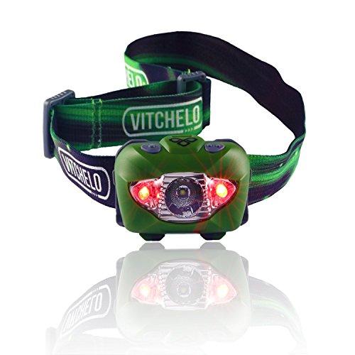 LED Stirnlampe zum Joggen, Camping, Angeln, Lesen - Beste und Hellste Kopflampe, wasserfeste Kopflampe, Lange Batterielaufzeit (Batterien mitinbegriffen), Anpassbarer Lichtkegel, haltbar, leicht, einfach bedienbar (Grün)