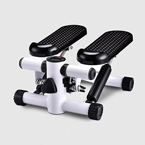 STEXH Stepper mit Power Ropes Stepper Schritt Maschine Home Mute Gewichtsverlust Maschine in situ Pedal Maschine Multi-Funktion Mini Pedal Maschine Slim Legs Fitnessgeräte Up-Down-Stepper mit Display(Schwarz) (Multi Sport Stepper)