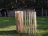Staketenzaun Kastanie 80 x 500 cm (Lattenabstand 4-5 cm) - Kastanienzaun Natur - Staketen Roll Zaun aus Edelkastanie ++ Kostenloser Versand ++
