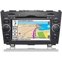"2DIN 7"" HONDA CR-V: NAVEGADOR GPS, MANOS LIBRES BLUETOOTH, CD, DVD, USB, SD, IPOD"