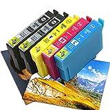 Remplacer pour Epson 502XL Cartouches d'encre pour Epson 502 XL Workforce WF-2860D WF-2860DWF WF-2865DWF, Expression Home XP-5105 XP-5100 XP-5115 Imprimante