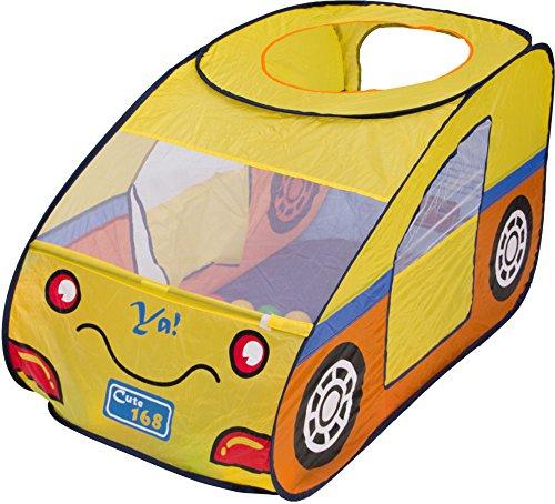 Beach & Pool Bällebad Auto gelb Pop-Up incl. 100 Bälle Spielzelt Babyzelt Kinderzelt BS003