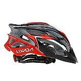 Lixada Casco da Bicicletta 25 Vents Ultraleggero Integralmente-modellato MTB Bici Regolabile Sicurezza Casco,Rosso