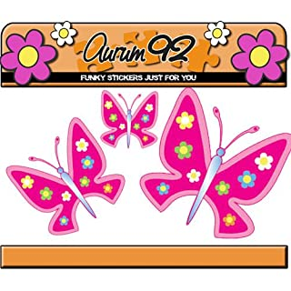 Dark Pink Butterflies - Sticker Pack