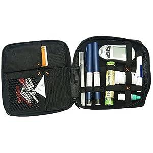 diabag Designer Diabetiker-Tasche ONE XL, Nylon, Schwarz, 207 (16,5 x 18 x 3 cm)