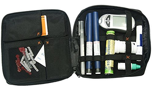 diabag Designer Diabetiker-Tasche ONE XL, Nylon, Schwarz, 207