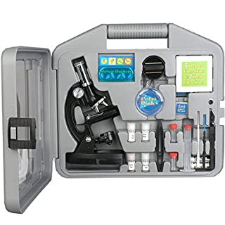 AmScope-KIDS M30-ABS-KT2 120X-240X-300X-480X-600X-1200X Metal Arm Kids Children Biological Microscope Kit