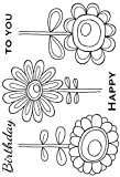 Woodware Clear Magic Bold Blooms-Daisy Strauß Stempel Set, Polymer, 21x 11x 0,6cm -